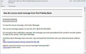 Fidelity Bank Auto Loan >> Receive Secure Email First Fidelity Bank